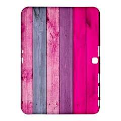 Pink Wood Samsung Galaxy Tab 4 (10 1 ) Hardshell Case  by Brittlevirginclothing