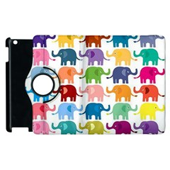 Cute Colorful Elephants Apple Ipad 2 Flip 360 Case by Brittlevirginclothing