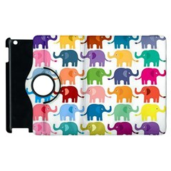 Cute Colorful Elephants Apple Ipad 3/4 Flip 360 Case by Brittlevirginclothing
