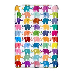 Cute Colorful Elephants Apple Ipad Mini Hardshell Case (compatible With Smart Cover) by Brittlevirginclothing