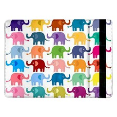 Cute Colorful Elephants Samsung Galaxy Tab Pro 12 2  Flip Case by Brittlevirginclothing