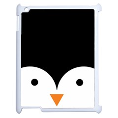 Cute Pinguin Apple Ipad 2 Case (white) by Brittlevirginclothing