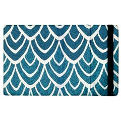 Blue Fish Scale  Apple Ipad 2 Flip Case by Brittlevirginclothing