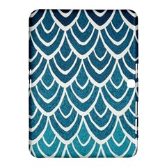 Blue Fish Scale  Samsung Galaxy Tab 4 (10 1 ) Hardshell Case  by Brittlevirginclothing