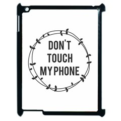 Dont Touch My Phone  Apple Ipad 2 Case (black) by Brittlevirginclothing