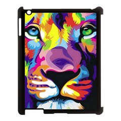 Colorful Lion Apple Ipad 3/4 Case (black) by Brittlevirginclothing