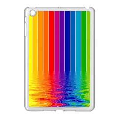 Faded Rainbow Apple Ipad Mini Case (white) by Brittlevirginclothing