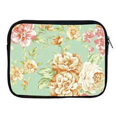 Vintage Pastel Flowers Apple Ipad 2/3/4 Zipper Cases by Brittlevirginclothing
