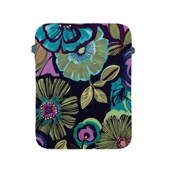 Dark Lila Flowers Apple Ipad 2/3/4 Protective Soft Cases by Brittlevirginclothing