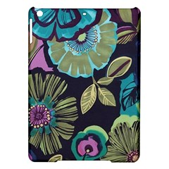 Dark Lila Flowers Ipad Air Hardshell Cases by Brittlevirginclothing