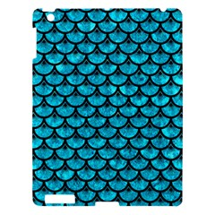 Scales3 Black Marble & Turquoise Marble (r) Apple Ipad 3/4 Hardshell Case by trendistuff