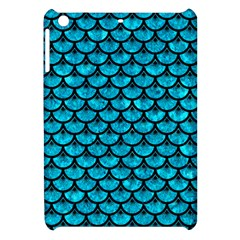 Scales3 Black Marble & Turquoise Marble (r) Apple Ipad Mini Hardshell Case by trendistuff