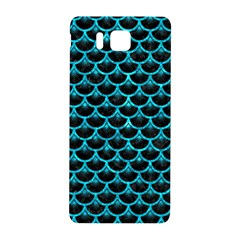 Scales3 Black Marble & Turquoise Marble Samsung Galaxy Alpha Hardshell Back Case by trendistuff
