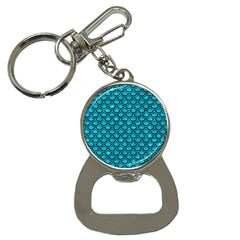 Scales2 Black Marble & Turquoise Marble (r) Bottle Opener Key Chain by trendistuff