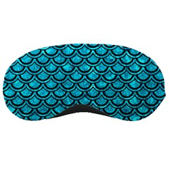 Scales2 Black Marble & Turquoise Marble (r) Sleeping Mask by trendistuff