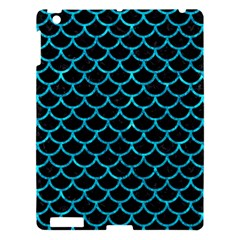 Scales1 Black Marble & Turquoise Marble Apple Ipad 3/4 Hardshell Case by trendistuff