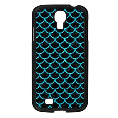 Scales1 Black Marble & Turquoise Marble Samsung Galaxy S4 I9500/ I9505 Case (black) by trendistuff