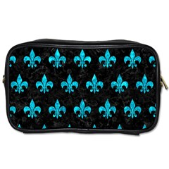 Royal1 Black Marble & Turquoise Marble (r) Toiletries Bag (two Sides) by trendistuff