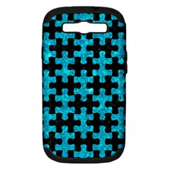 Puzzle1 Black Marble & Turquoise Marble Samsung Galaxy S Iii Hardshell Case (pc+silicone) by trendistuff
