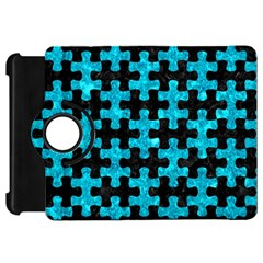 Puzzle1 Black Marble & Turquoise Marble Kindle Fire Hd Flip 360 Case by trendistuff