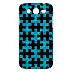 Puzzle1 Black Marble & Turquoise Marble Samsung Galaxy Mega 5 8 I9152 Hardshell Case  by trendistuff