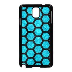 HXG2 BK-TQ MARBLE (R) Samsung Galaxy Note 3 Neo Hardshell Case (Black) by trendistuff