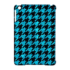 Houndstooth1 Black Marble & Turquoise Marble Apple Ipad Mini Hardshell Case (compatible With Smart Cover) by trendistuff
