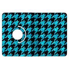 Houndstooth1 Black Marble & Turquoise Marble Kindle Fire Hdx Flip 360 Case by trendistuff