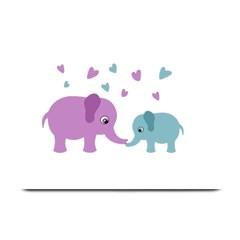 Elephant love Plate Mats by Valentinaart