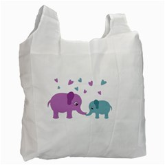 Elephant Love Recycle Bag (one Side) by Valentinaart