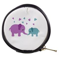 Elephant Love Mini Makeup Bags by Valentinaart