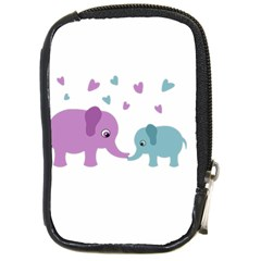 Elephant Love Compact Camera Cases by Valentinaart