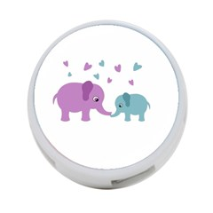 Elephant Love 4 Port Usb Hub (two Sides)  by Valentinaart