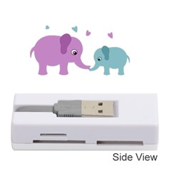 Elephant Love Memory Card Reader (stick)  by Valentinaart