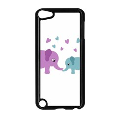 Elephant Love Apple Ipod Touch 5 Case (black) by Valentinaart