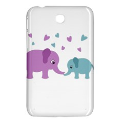 Elephant Love Samsung Galaxy Tab 3 (7 ) P3200 Hardshell Case  by Valentinaart