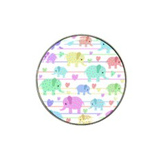 Elephant Pastel Pattern Hat Clip Ball Marker (4 Pack) by Valentinaart