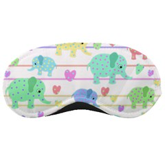 Elephant Pastel Pattern Sleeping Masks by Valentinaart