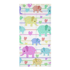 Elephant Pastel Pattern Shower Curtain 36  X 72  (stall)  by Valentinaart