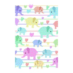 Elephant Pastel Pattern Shower Curtain 48  X 72  (small)  by Valentinaart