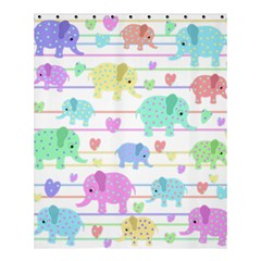 Elephant Pastel Pattern Shower Curtain 60  X 72  (medium)  by Valentinaart