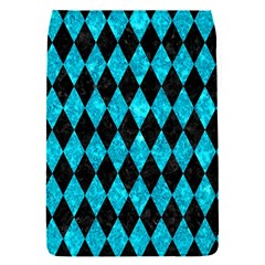 Diamond1 Black Marble & Turquoise Marble Removable Flap Cover (s)