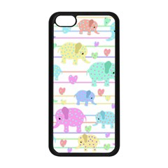 Elephant Pastel Pattern Apple Iphone 5c Seamless Case (black) by Valentinaart
