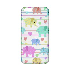Elephant Pastel Pattern Apple Iphone 6/6s Hardshell Case by Valentinaart