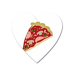 Pizza Slice Heart Magnet by Valentinaart