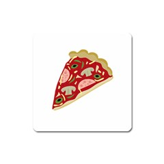 Pizza Slice Square Magnet by Valentinaart