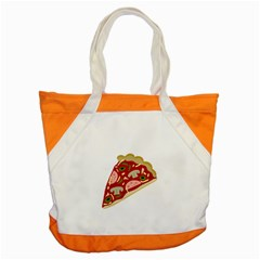 Pizza Slice Accent Tote Bag by Valentinaart
