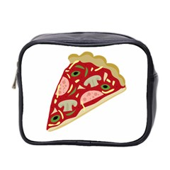 Pizza Slice Mini Toiletries Bag 2 Side by Valentinaart