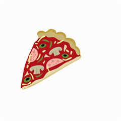 Pizza Slice Small Garden Flag (two Sides) by Valentinaart