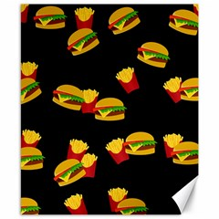 Hamburgers And French Fries Pattern Canvas 8  X 10  by Valentinaart